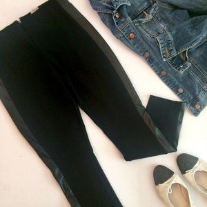 J. Crew Gigi pant, faux leather panel, pon…